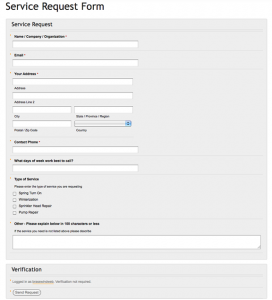 links to service request form - image